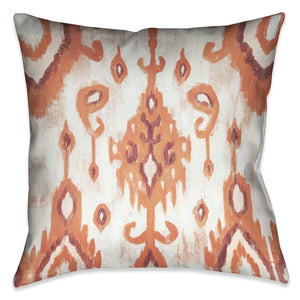 Coral Ikat II Outdoor Decorative Pillow