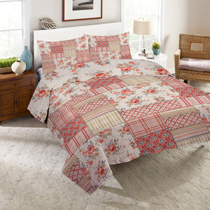 Cottage Florals Reversible Quilt Set