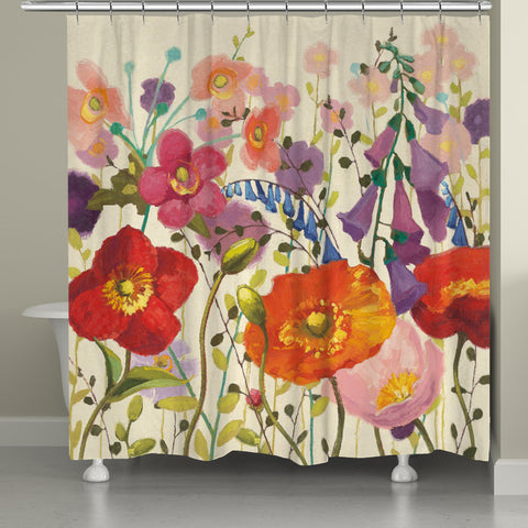Blossoming Printemps Shower Curtain