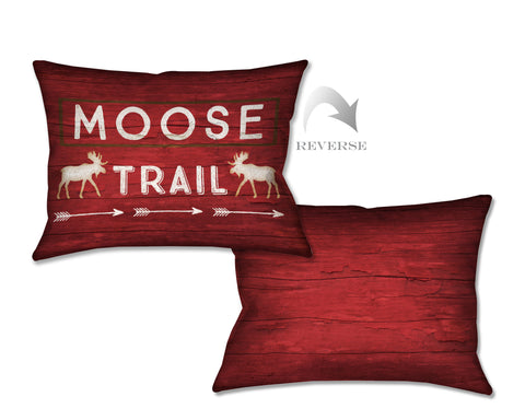 Country Cabin Moose Trail Indoor Decorative Pillow
