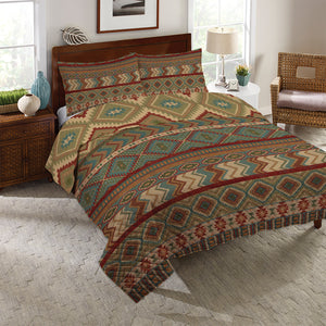 Country Mood Sage Reversible Quilt Set