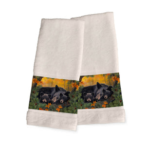 Warm Cozy Bears Hand Towels