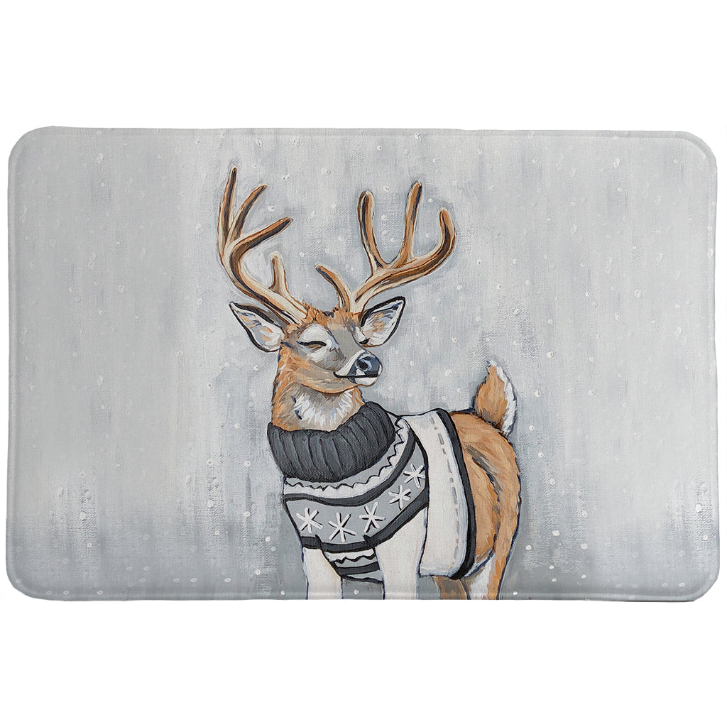 Cozy Deer Memory Foam Rug