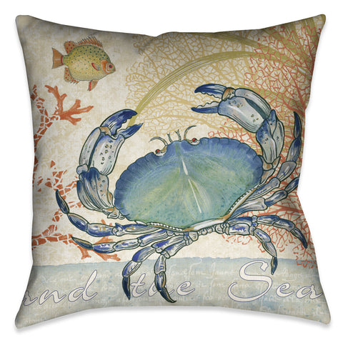 Oceana Crab Indoor Decorative Pillow