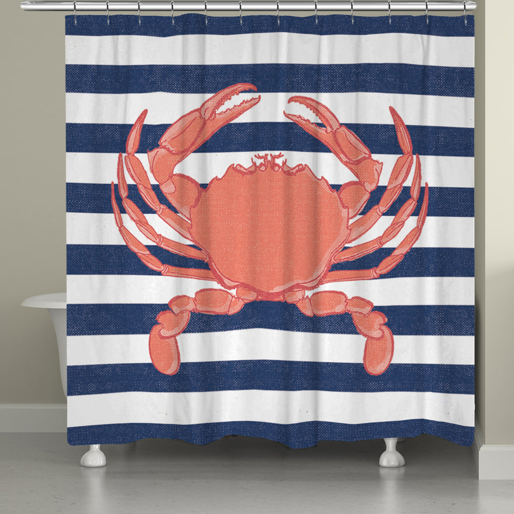 Beautiful Crab Stripe Shower Curtain
