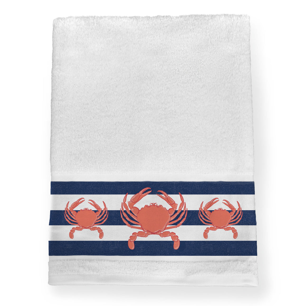 Crab Stripe Bath Towel
