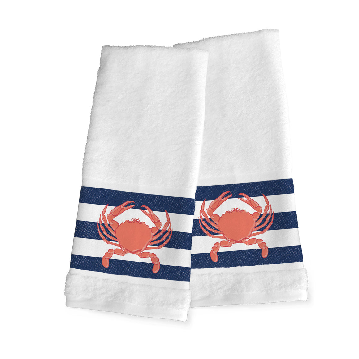 Crab Stripe Hand Towels