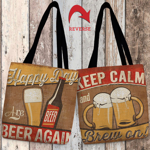Craft Brew Canvas Tote Bag