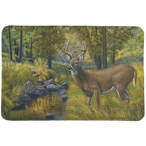 Creekside Deer Retreat Memory Foam Rug