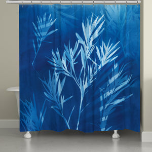 Cyanotype Winds Shower Curtain