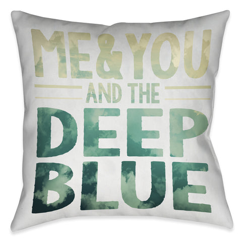 Deep Blue Indoor Decorative Pillow