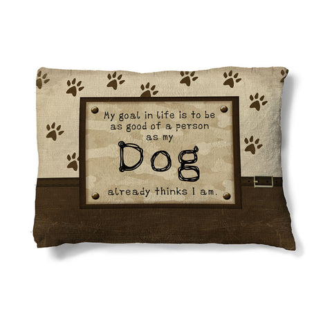 "Dog's Opinion 30"" x 40"" Fleece Dog Bed"