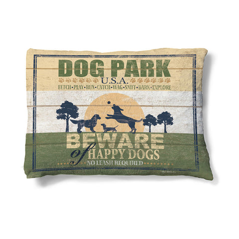 Dog Park Fleece Dog Bed