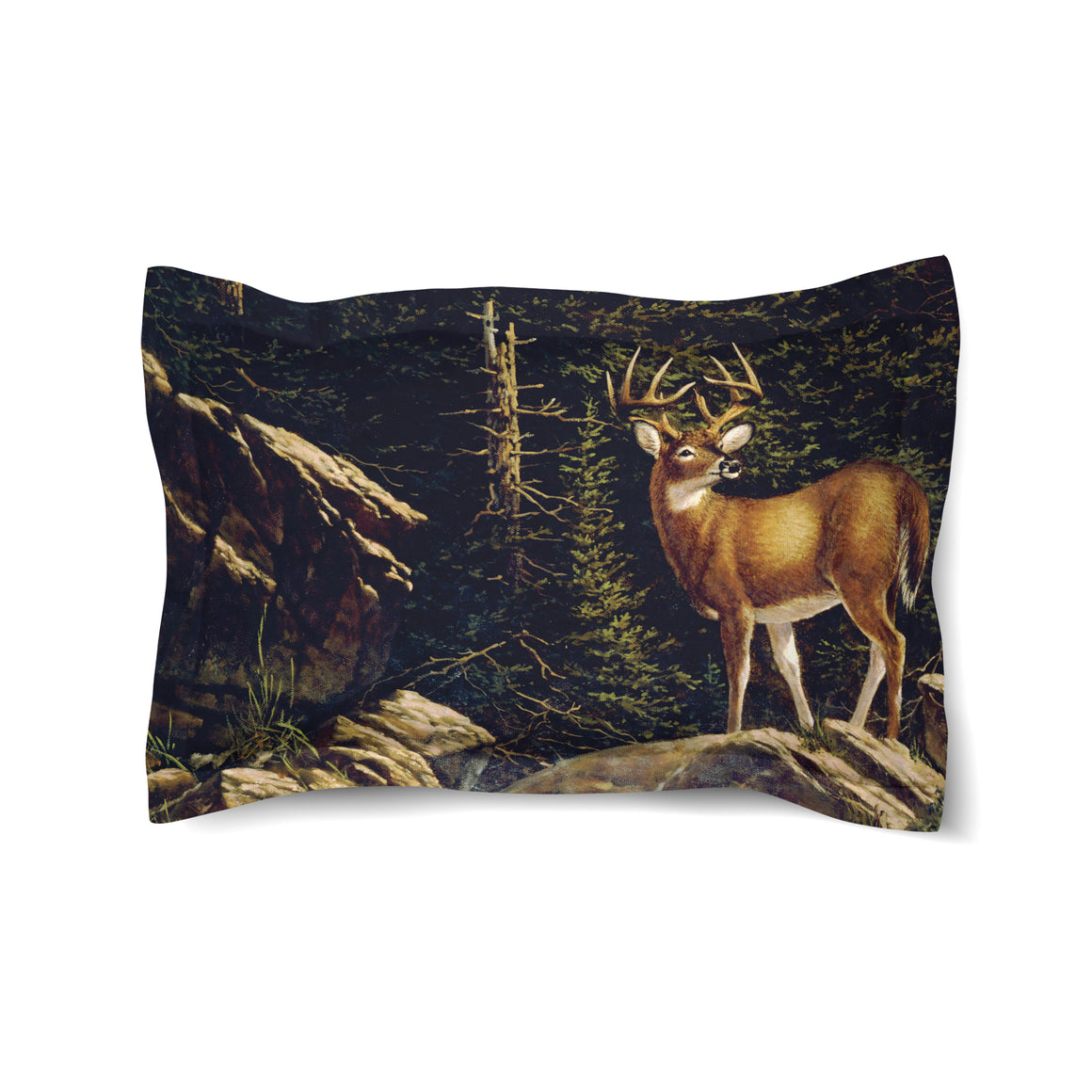 Deer Above the Falls Duvet Sham