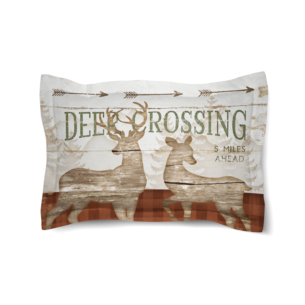 Deer Crossing Comforter Sham