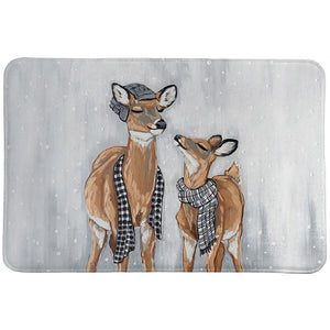 Deer Family Fun Memory Foam Rug