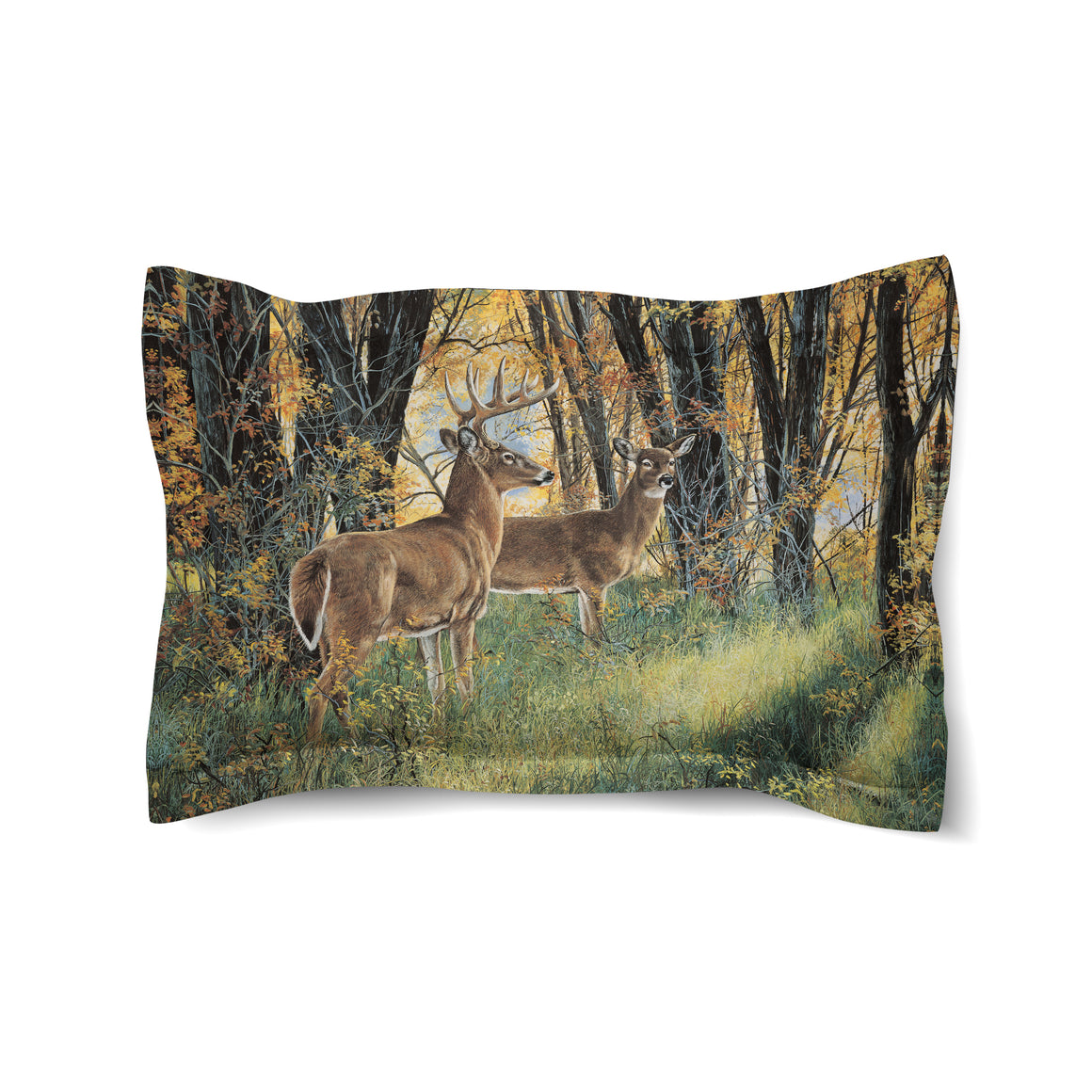 Deer in Autumn Light Duvet Sham