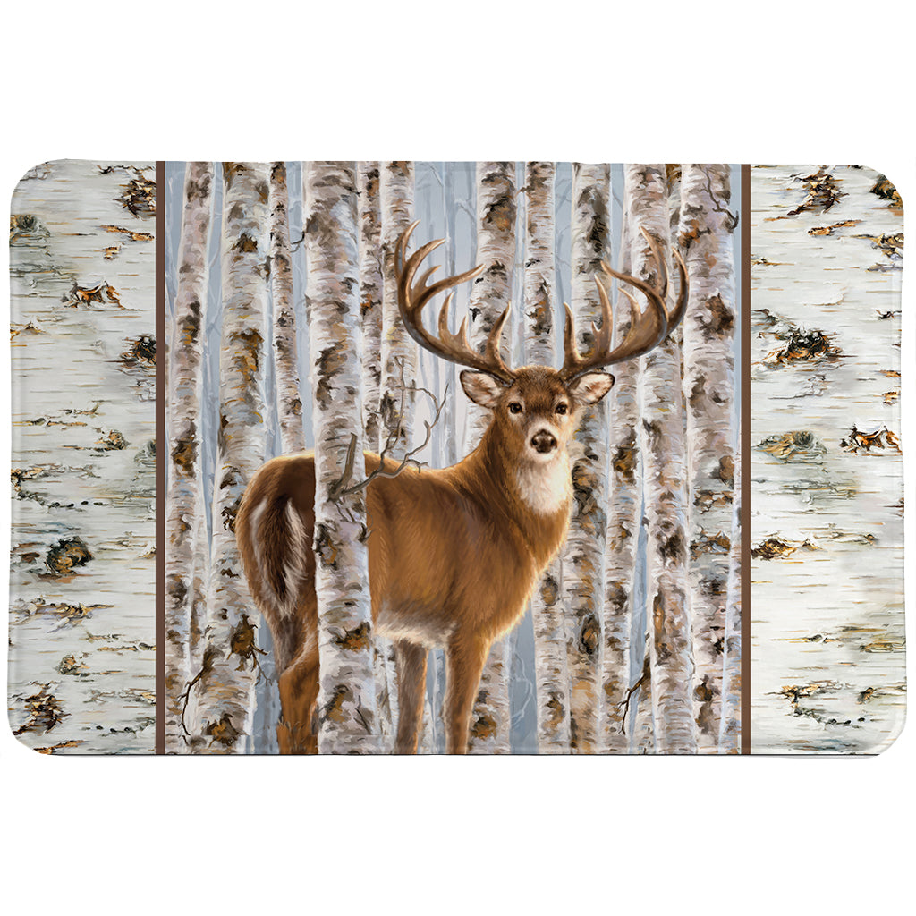 Buck In Birches Memory Foam Rug