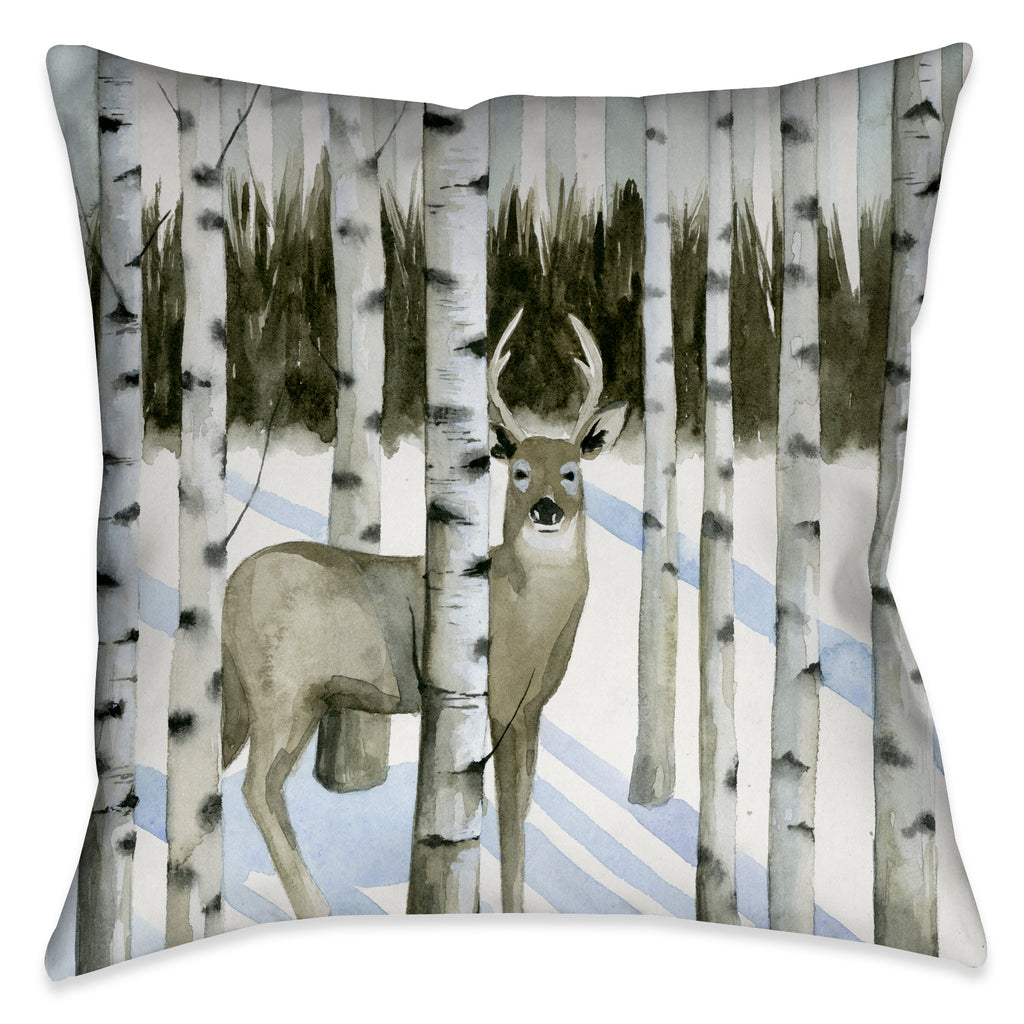 This beautifully rendered deer among birch trees landscape is well suited for anyone with a sophisticated appreciation for nature.