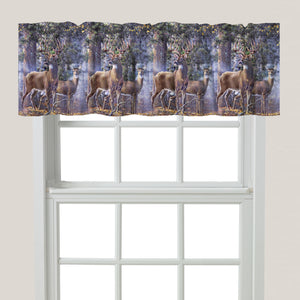 Deer Time Window Valance