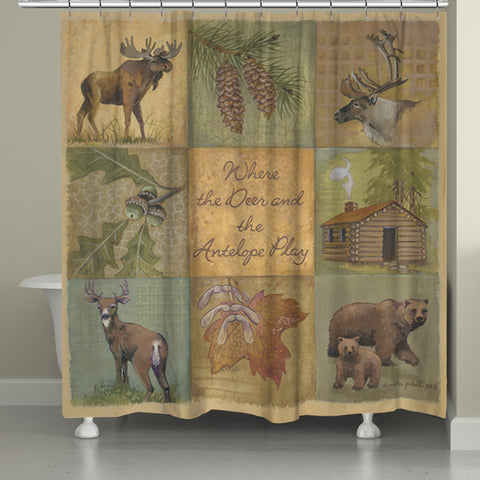 Deer and Antelope Shower Curtain