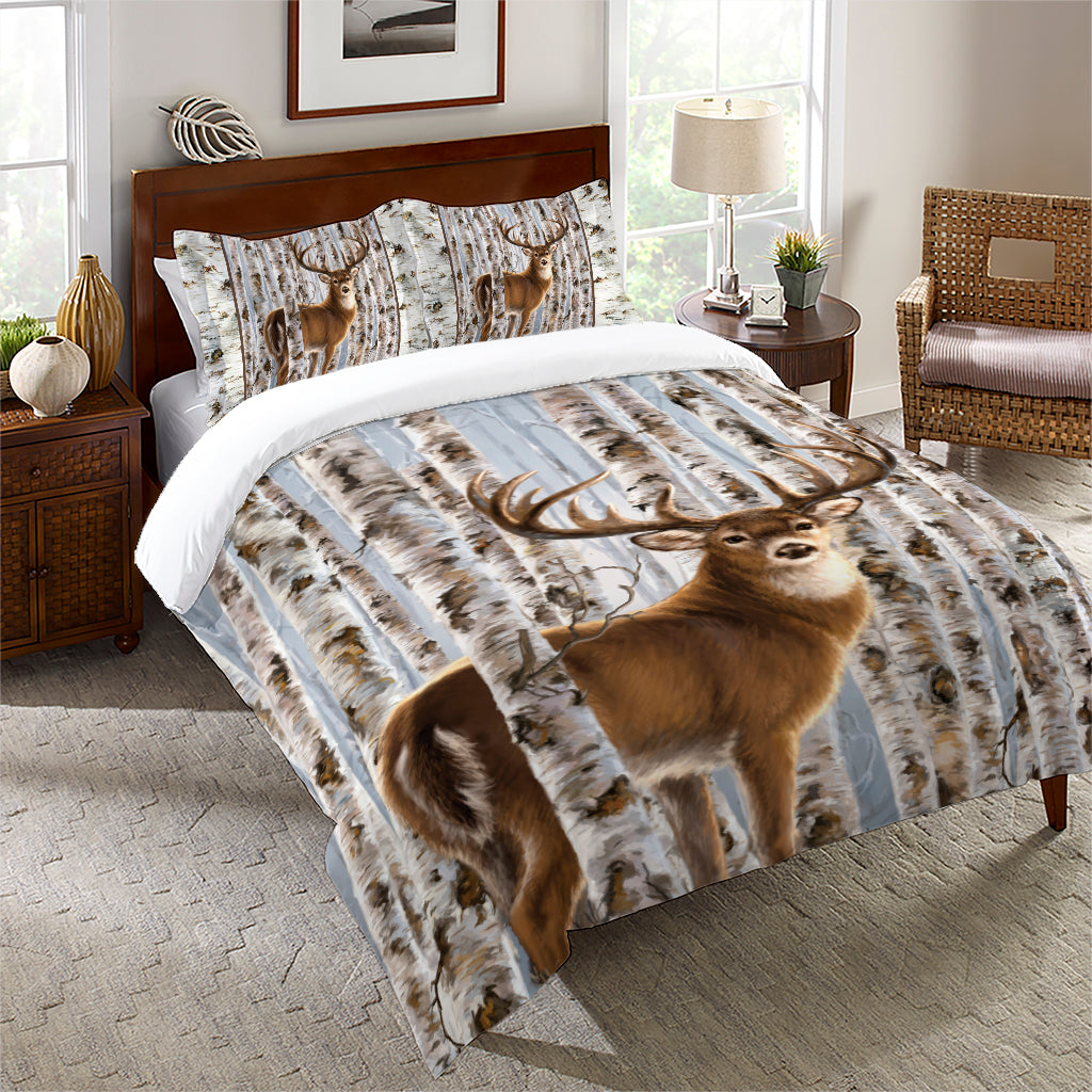 Buck in Birches Comforter