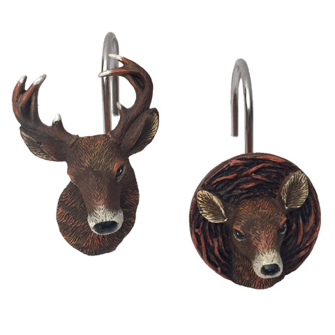 Deer Time Shower Curtain Hooks
