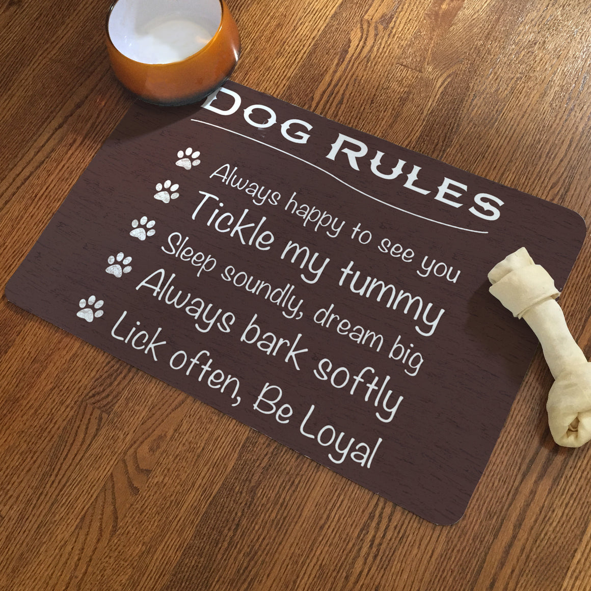 Dog Rules Pet Mat