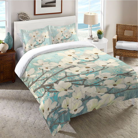 Dogwood Blossoms Duvet Cover