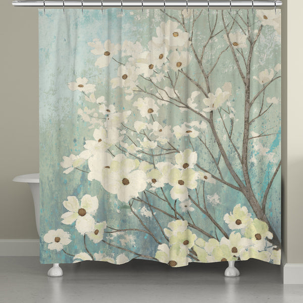 Dogwood Blossoms Shower Curtain Laural Home