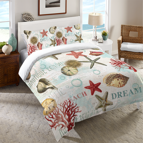 Dream Beach Shells Duvet Cover