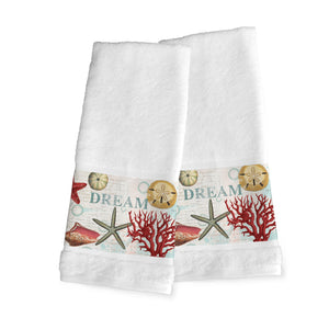 Dream Beach Shells Hand Towels
