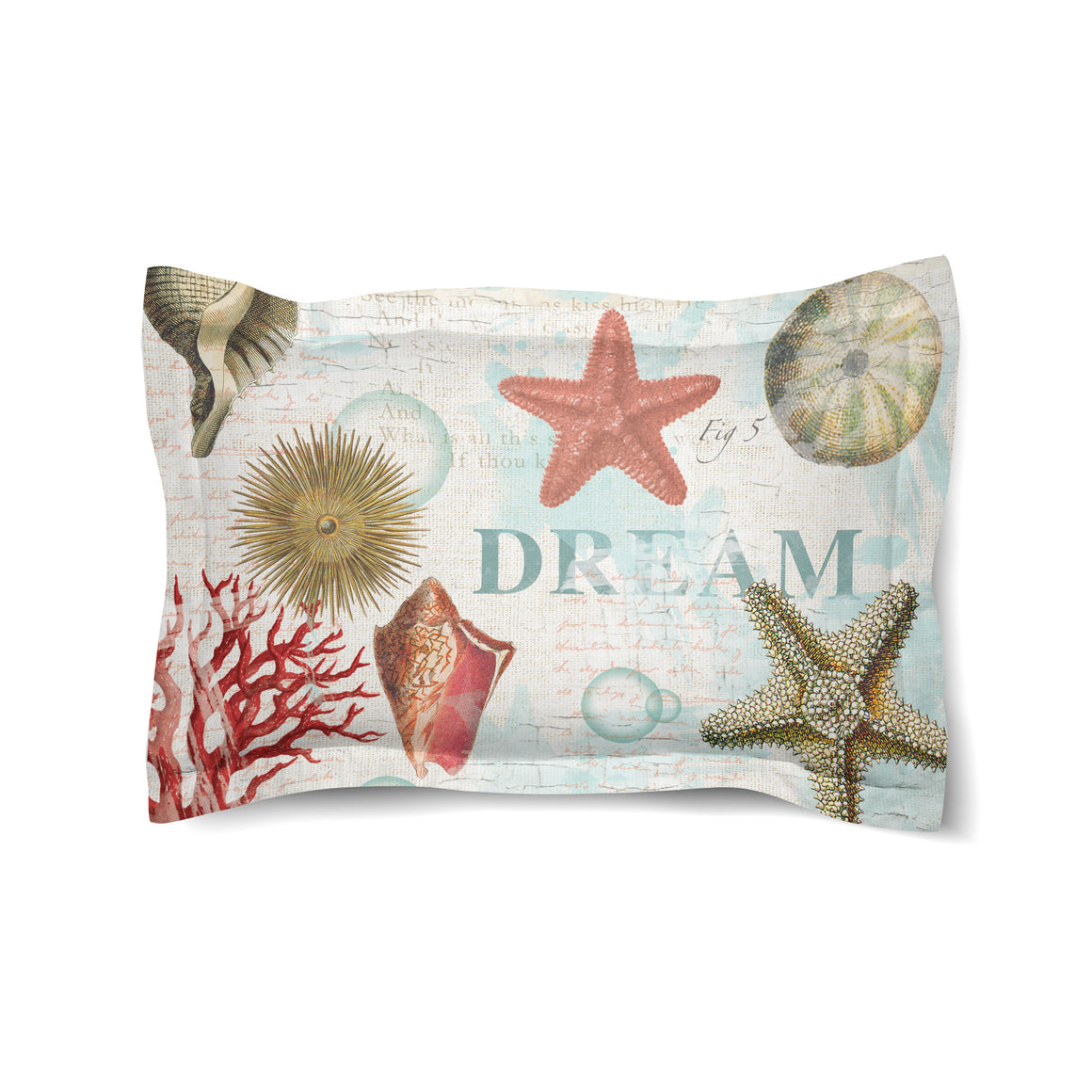 Dream Beach Shells Duvet Sham
