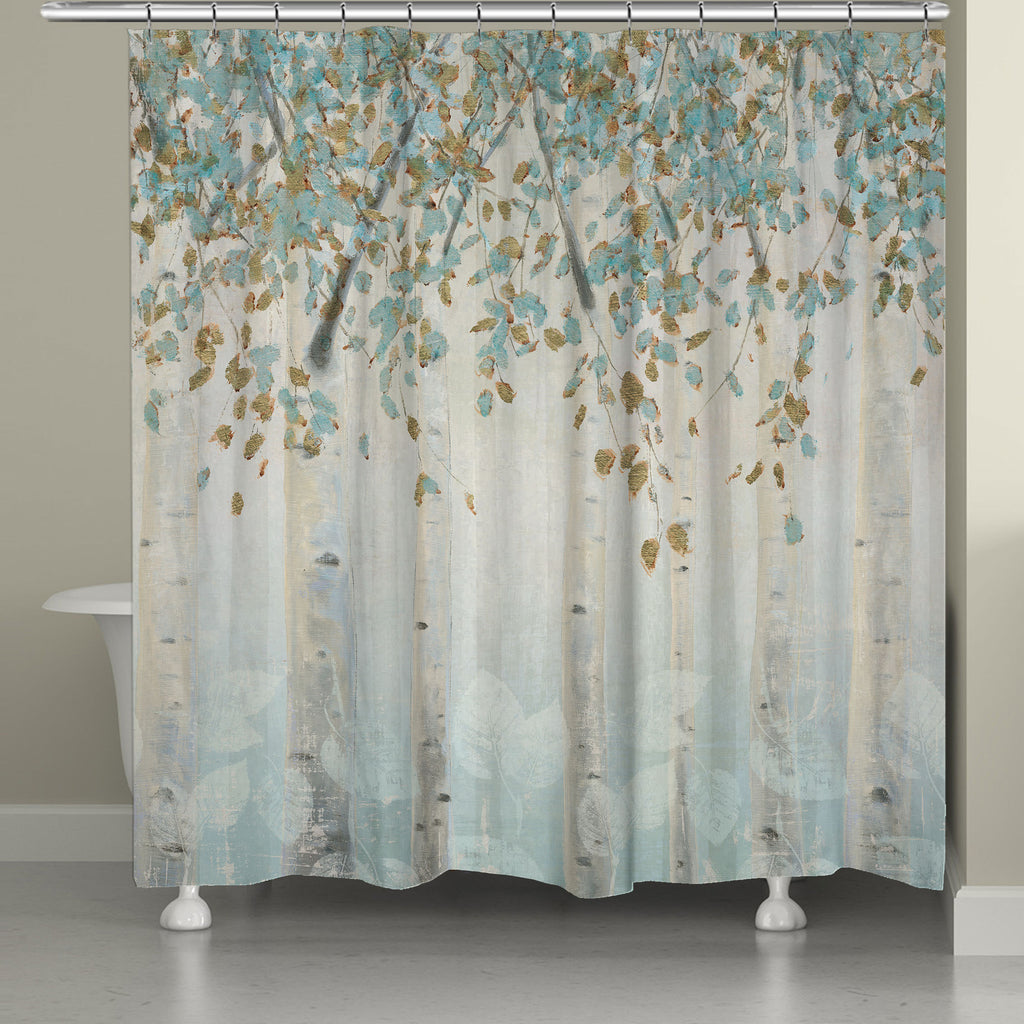 Grey And Turquoise Shower Curtain. Dream Forest Shower Curtain  Laural Home