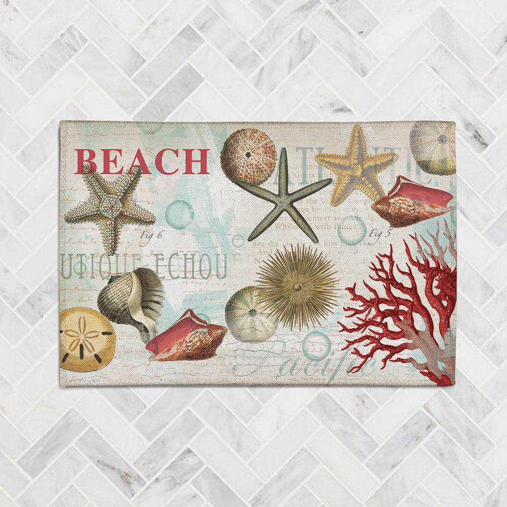 Dream Beach Shells Accent Rug