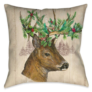 Holiday Deer Indoor Decorative Pillow