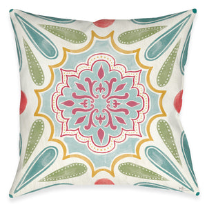 Elegant Floral Outdoor Decorative Pillow