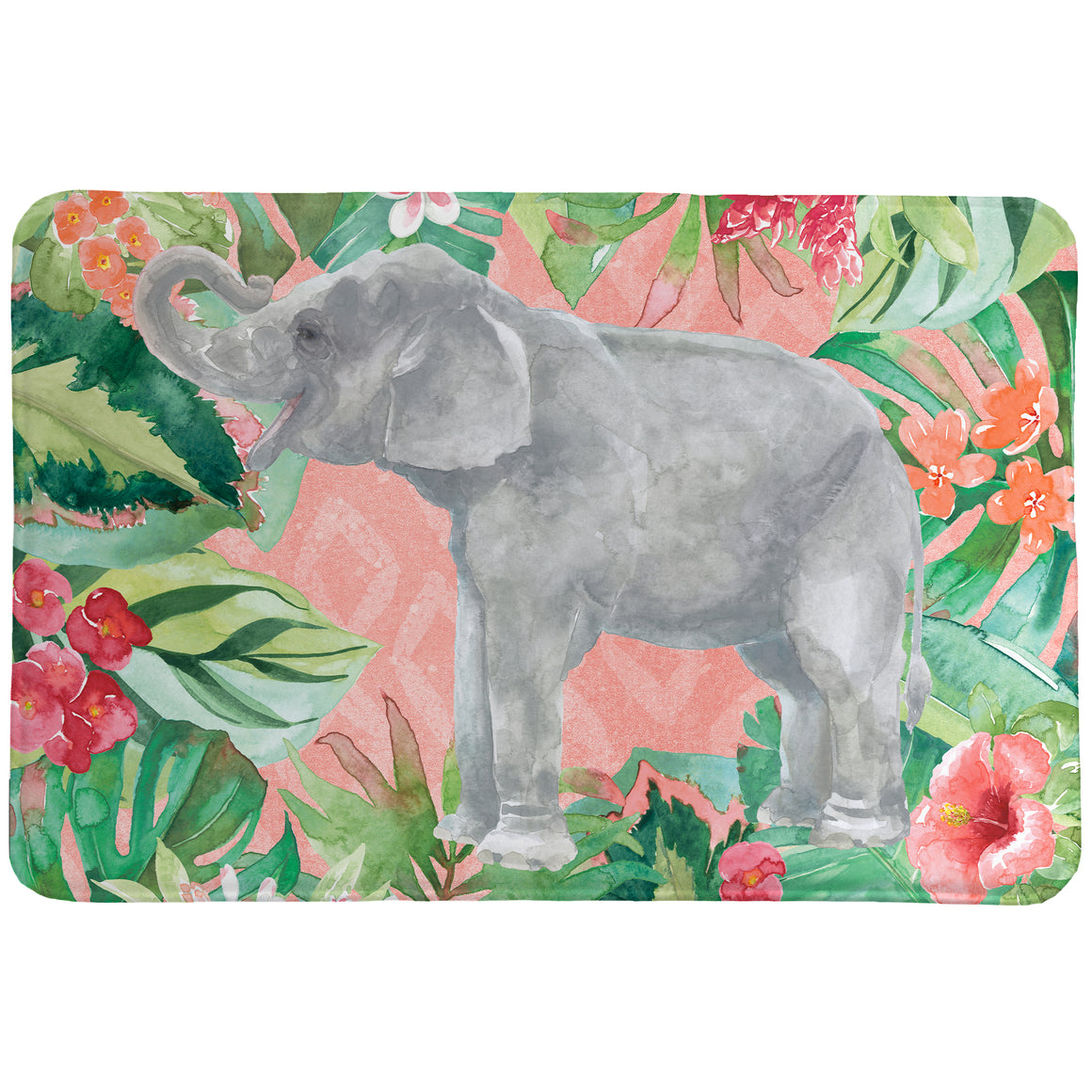Elephant in the Jungle Memory Foam Rug