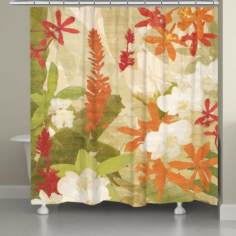 Exotic Foliage Shower Curtain
