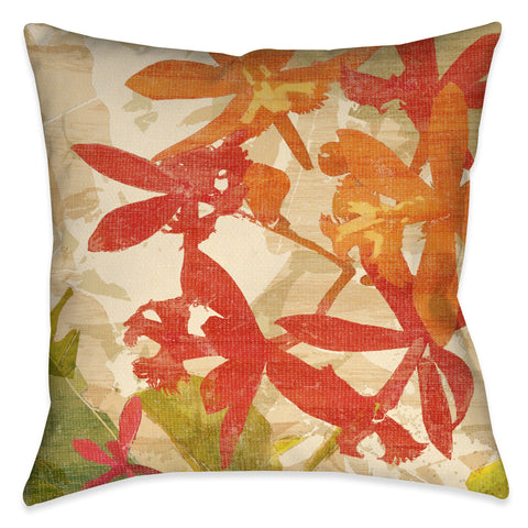 Exotic Foliage I Outdoor Decorative Pillow