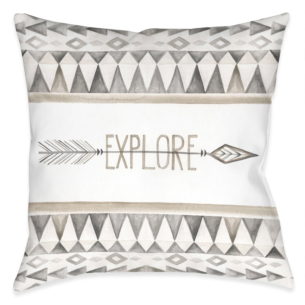 Explore Indoor Decorative Pillow