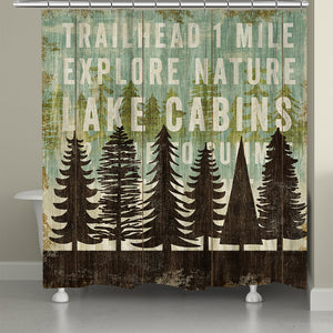 Explore The Trails Shower Curtain