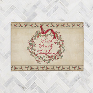 Faith Family Tradition Accent Rug