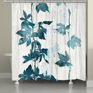 Falling Blue Vines Shower Curtain