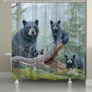 Family Bears Shower Curtain