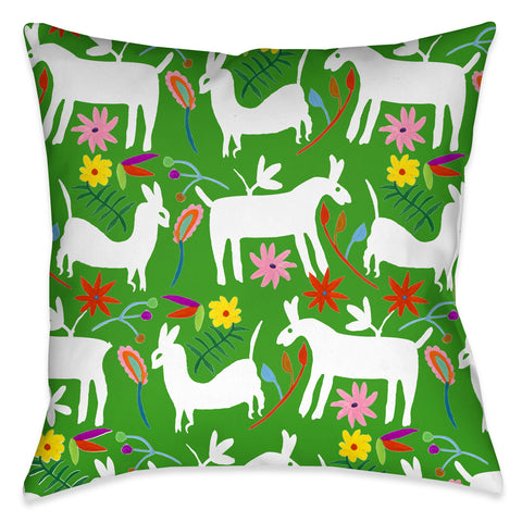 Folk Art Whimsy IV Indoor Decorative Pillow