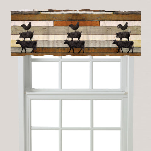 Farmhouse Animals Window Valance