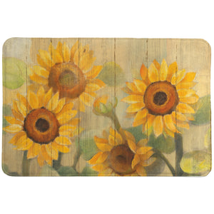Farmhouse Sunflowers Memory Foam Rug