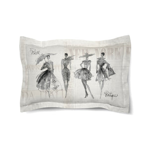 Fashion Sketchbook Duvet Sham