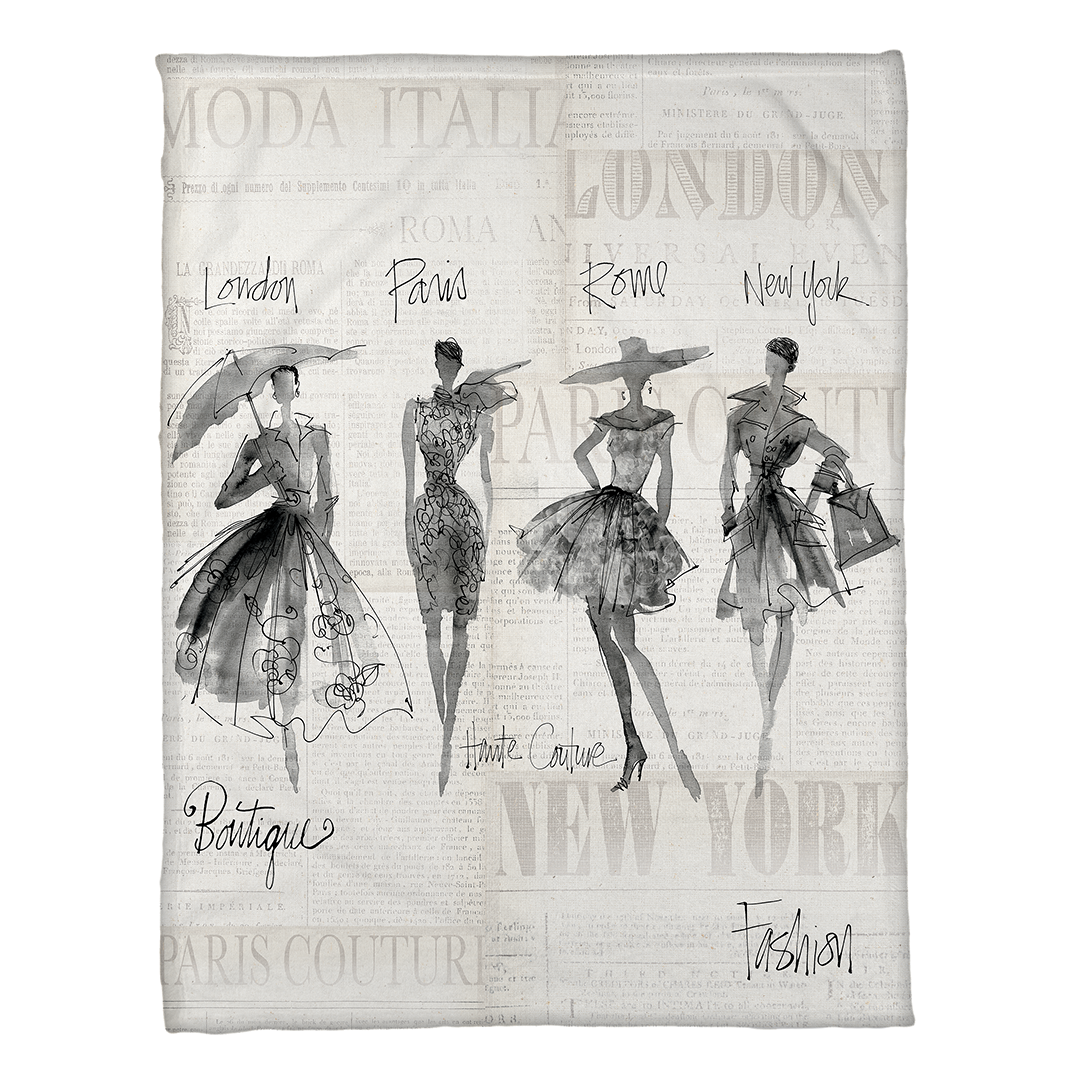 Fashion Sketchbook Fleece Throw